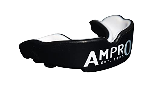 3 opinioni per Ampro Pro Fit protezione di bocca- Nero / Bianco, Pugilato, Rugby, MMA, arte