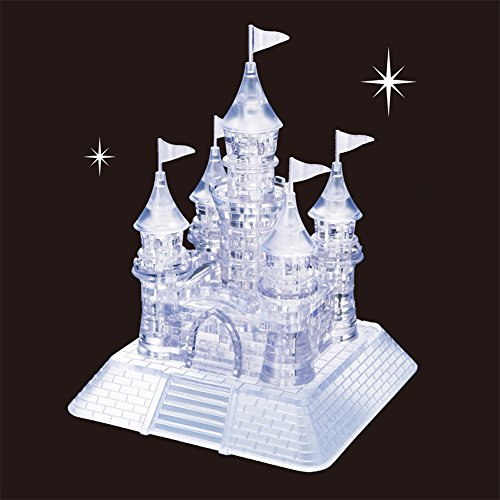 (Baiyouli 105Pcs 3D Clear Castle Crystal Jigsaw Puzzle with Light-Up Musical for Kids & Children)