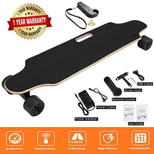 Miageek Youth Electric Skateboard 12MPH Top Speed, 250W Motor 7 Layers Maple Longboard with Wireless Remote Control Electirc Board US Stock