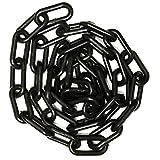 """Mr. Chain Plastic Barrier Chain, 1.5"""" Diameter, 50' Length, Black"""