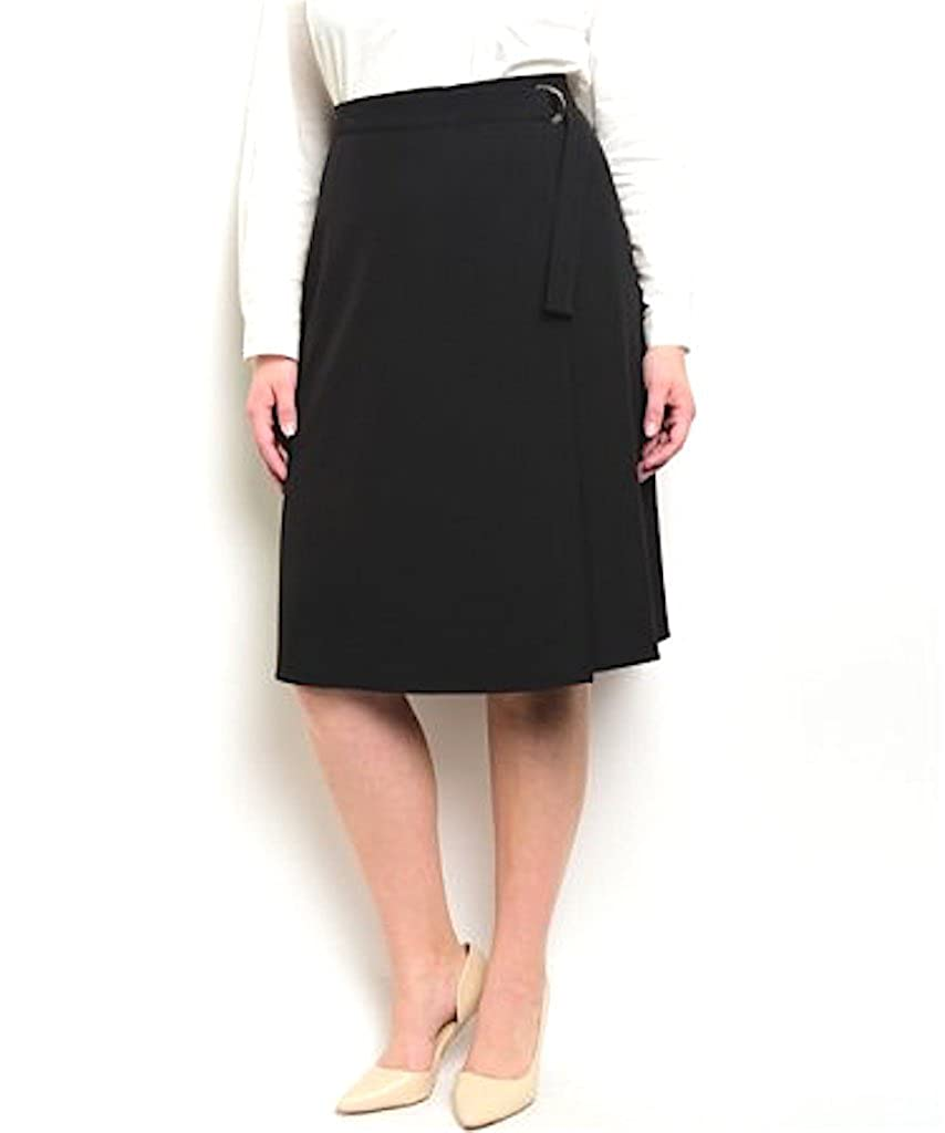 Star-Studded Plus Size A-line Wrap Skirt Black) 92530-b-1x