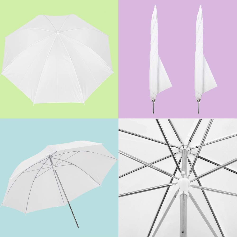 Upland 33-Inch 2 Umbrella Lights with Backdrop System, for Photo Photography, Video Studio Lighting, 1 Backdrop Support Stand (6.6x6.6 Feet), 3 Backdrops (5.4x 10 Feet) by Upland (Image #2)