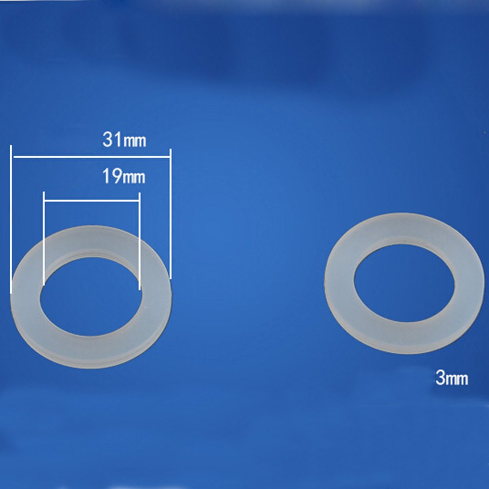 bianco OUNONA 10PCS Tubo da giardino Heavy Duty in gomma lavatrice acqua calda esterna Temp Bellows tubo di ingresso tubo di tenuta Guarnizione in silicone