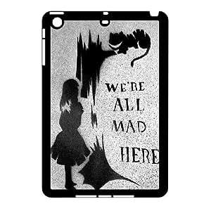 3D We're All Mad Here Black iPad Mini 2D Case Black by ruishername