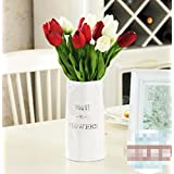 XHOPOS HOME Artificial Flowers Living Room Bedroom American Style Tulips Red Decorative Fake Flowers For Home Party and Garden Decor