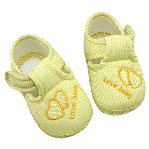 Sanwood , Baby Mädchen Krabbelschuhe & Puschen blau Size 13 gelb