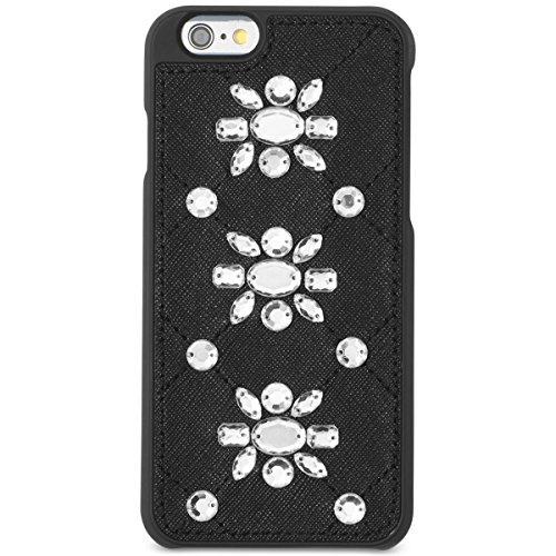 Michael Kors Womens Saffanio Embellished Cell Phone Case Black - Returns Kors Michael