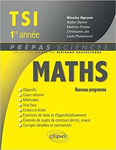 Livre gratuits Maths TSI 1re Année Programme 2013 epub pdf