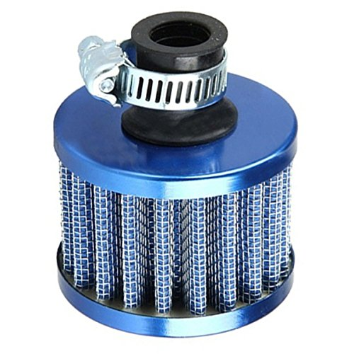 Air Intake Filter - SODIAL(R)Car Motor Cold Air Intake Filter Turbo Vent Crankcase Breather Blue