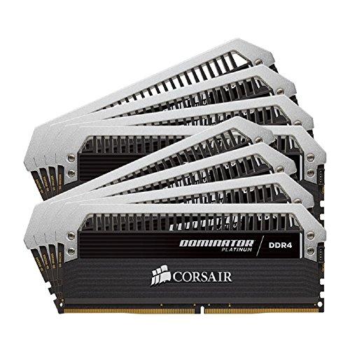 (CORSAIR Dominator Platinum 64GB (8x8GB) DDR4 2400MHz C14 Desktop Memory)