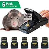 KHRU Protection Mouse Trap/Rats Trap Mice Catcher that Works Bait Station 100% Rodent Killer Reusable Durable[Quick & Effective & Sensitive] Safe for Children (6 Pack)