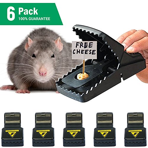 Samofik Best Mouse Trap [6 Pack], Rat/Mice Traps That Work, Effective and Sensitive Mouse Catcher, Reusable Instantly/Quick Response/Premium ABS and Steel Material (Best Mouse And Rat Traps)