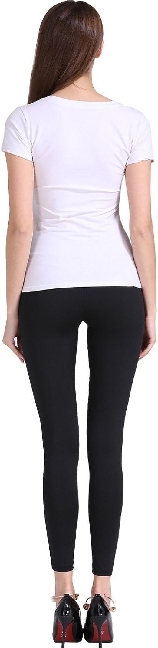 Everbellus Womens Tummy Control Workout Leggings High Waist Yoga Running Pants Black