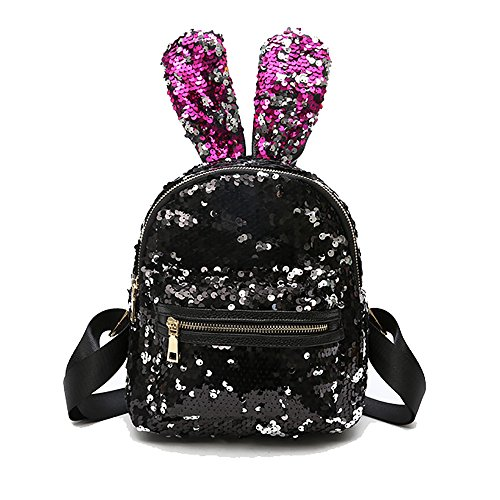 Backpack Sequined School Ear Gxycp Personality Girl Cute White Rabbit Bag Double Pink Woman Bag Shoulder 8FqwtWq41