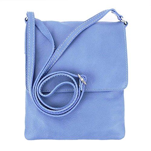 à porter Made Bleu 18x22 Sac femme l'épaule BxH Hell Blau à cm pour Italy arxXPqxI