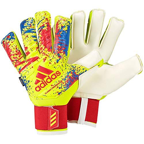 (adidas Classic PRO FINGERSAVE Retro Inspired Goalkeeper Gloves for Soccer Retro Goalkeeping)