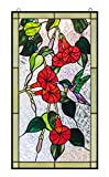 Humming bird Stained Glass Leaded Tiffany Style Garden Home Window Panel Handcrafted Sun Catcher