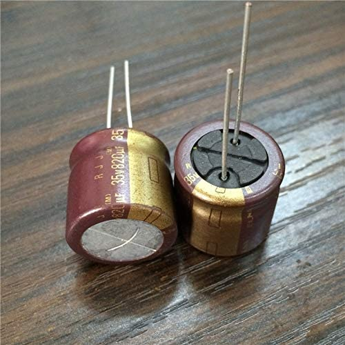 10pcs 820uF 35V Japan ELNA RJJ Series 18x18mm Low Impedance High Reliability 35V820uF Audio grade Capacitor