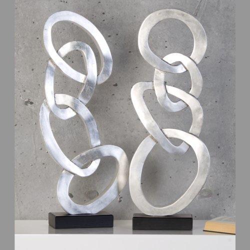 Deko Objekt Silber.Amazon De Design Skulptur Unique Circle Deko Objekt Figur