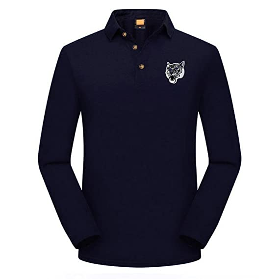 Resplend La Blusa Superior Delgada Ocasional de la Camiseta del Bordado de la Manga de los Hombres de la Moda Superior: Amazon.es: Ropa y accesorios