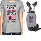 365 Printing Tall Short Friend Small Pet Owner Matching Gift Outfits For Dog Mom (ONWER - L / PET - S)