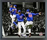 "Chicago Cubs 2016 World Series Spotlight Celebration Photo (Size: 17"" x 21"") Framed"