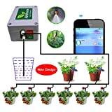 Smart Automatic Watering System Indoor Plant Auto Watering - by Bluetooth App Timer Irrigation Controller Watering for Indoor/Outdoor Garden Flower Plant