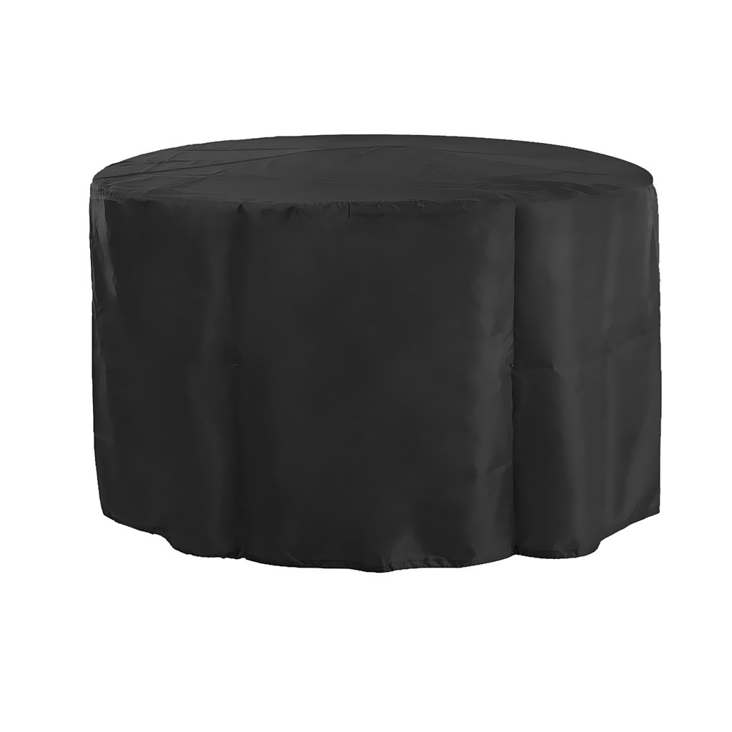 Fityle Large Patio Furniture Cover Durable Water Resistant Outdoor Furniture Sets Cover Black 128×71cm