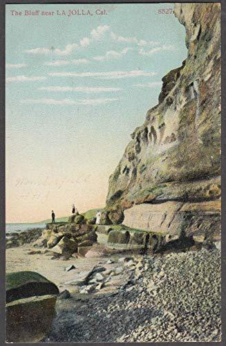 People visiting The Bluff near La Jolla CA postcard ca 1910
