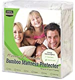 Utopia Bedding Waterproof Bamboo Mattress Protector - Hypoallergenic Fitted..