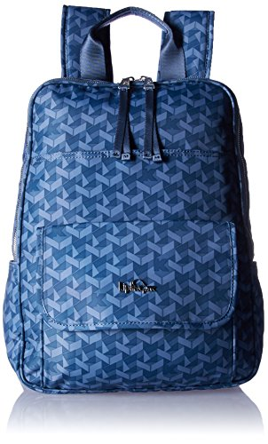 Sandra Large Printed Laptop Backpack Backpack, Optic Blue, One Size by Kipling
