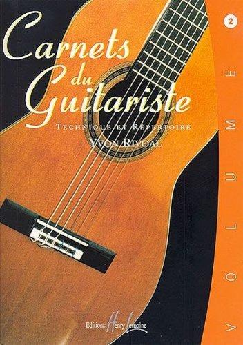 Carnets du guitariste Volume 2 Partition – 1 septembre 1984 Yvon Rivoal Lemoine B000ZGDGB4 52876