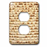 InspirationzStore Judaica - Matzah bread texture photo - for passover pesach - funny Jewish humor - humorous matzo Judaism food - Light Switch Covers - 2 plug outlet cover (lsp_112943_6)