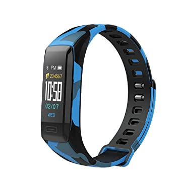 Reloj inteligente pantalla coloré Monitor de ritmo cardiaco Tensiómetro Bluetooth mallalah Fitness Tracker pulsera V7 a la Mode, color azul: Amazon.es: ...