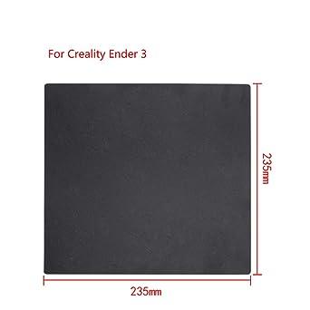 Creality Ender 3 Build Plate Superficie de compilación de la impresora 3D para (235x235MM) Eewolf desmontable anti-deformación magnética
