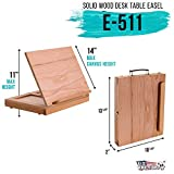 U.S. Art Supply Solid Solana Adjustable Wood Desk