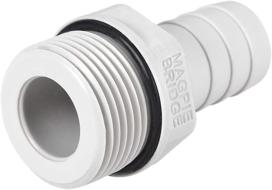 uxcell PVC Barb Hose Fitting Connector Adapter 16mm or 5//8 Barbed x G3//4 Male Pipe 6pcs