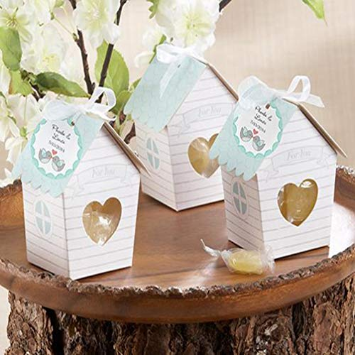 (MEIZOKEN 10pc/Set Candy Favor Theat Boxes Mini Love Nest Bird House Baby Shower Candy Box Wedding Candy Boxes Wedding Favor Gift Box Chocolate Box)