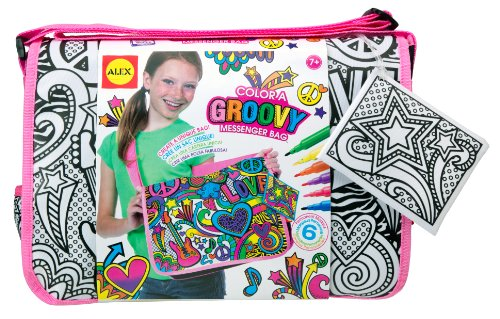 ALEX Toys Color a Bag & Accessories Color a Groovy Messenger Bag