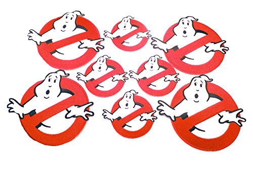 [Ghostbusters No Ghost 8PK Assortment Horror Film Theme DIY Easy Iron/Sew-on Embroidered Patches By Superheroes Brand] (Diy Hellraiser Costume)