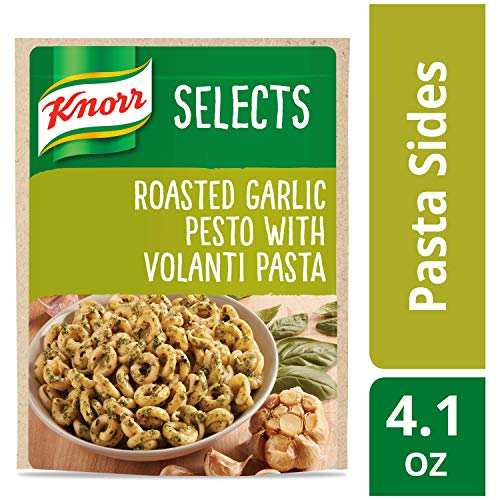 Knorr Selects Pasta Side Dish, Roasted Garlic Pesto with Volanti Pasta, 4.1 oz