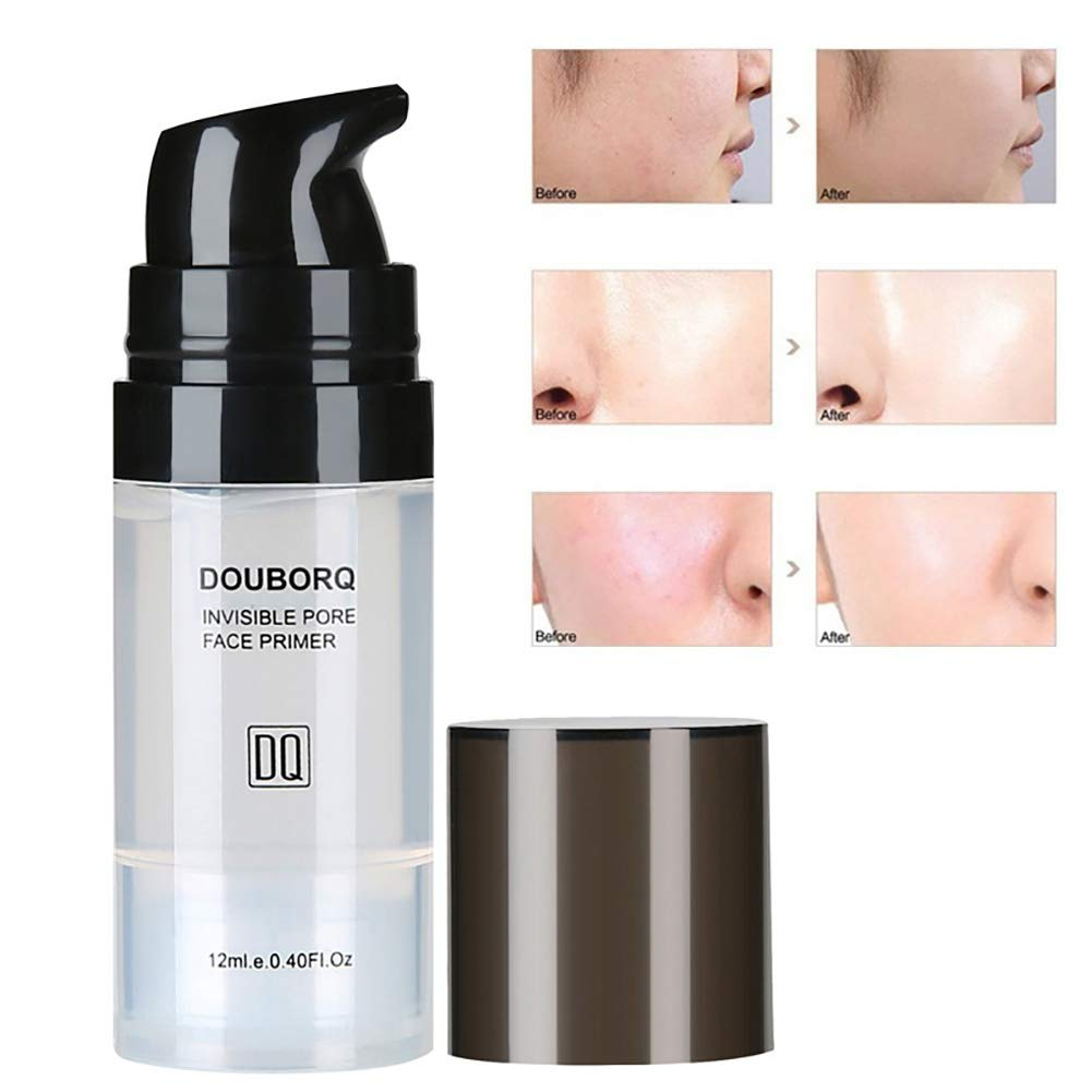 Primer clifcragrocl Face Primer Liquid Natural Base Foundation Pores Invisible Oil-control Makeup