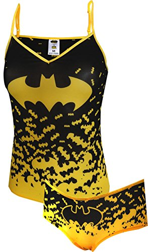 DC Comics Batman Mesh Cami Panty Set (X-Large) (Womens Batman Underwear)