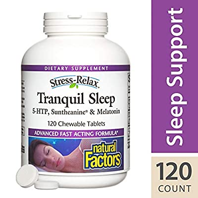 Natural Factors - Stress-Relax Tranquil Sleep Chewable - Supports Relaxation & Natural Sleep Quality
