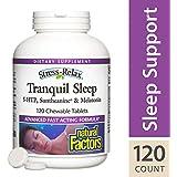 Natural Factors - Stress-Relax Tranquil Sleep, 5-HTP, Suntheanine & Melatonin, 120 Chewable Tablets