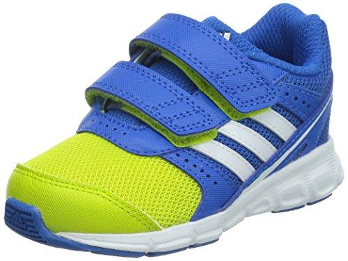 adidas Hyperfast Cf, Zapatillas de Deporte Unisex Niños Azul Royal / Amarillo Flúor