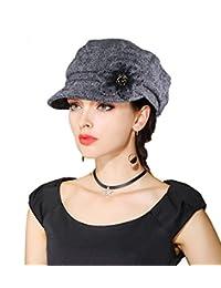 EINSKEY Womens Beret Hat Winter Wool Felt Cloche Bowler Hat Cabbie Newsboy Cap