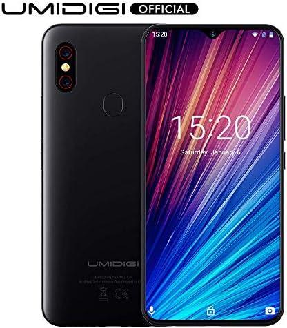 Unlocked Smartphones, UMIDIGI F1 Play Twin 4G Good Cellphone Sim Free Android 9 Pie 48MP+8MP+16MP Cameras 5150mAh Battery 64GB ROM+6GB RAM 6.3″ FHD+ Cellular Telephones [Black]
