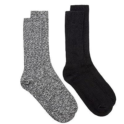Calvin Klein 2-Pack Ribbed Cotton Men's Boot Socks, Black