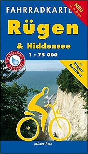 Fahrrad Karte.Fahrradkarte Rügen Hiddensee Mit Rügen Rundtour Wasser Und
